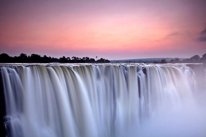 victoria falls pink sky dawn