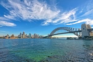 sydney harbour bridge water view