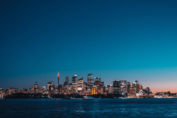view of sydney from Cremorne Point Reserve