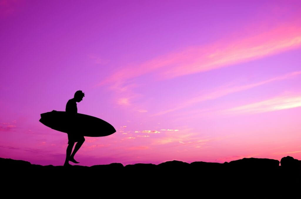 surfer in a beach in australia