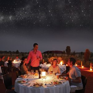 sounds of silence dinner Ayers rock Uluru