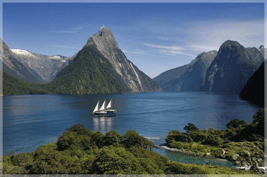 NZ Mountains and water