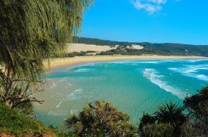 Fraser Island coastal view blue waters