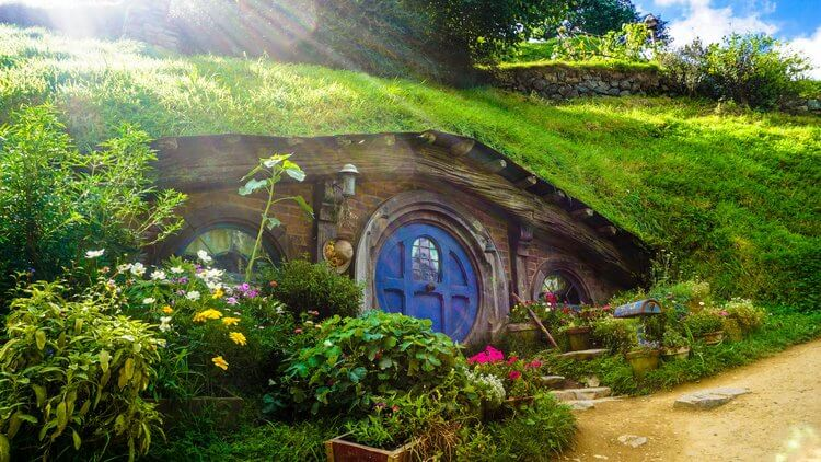 Hobbiton movie set Matamata New Zealand