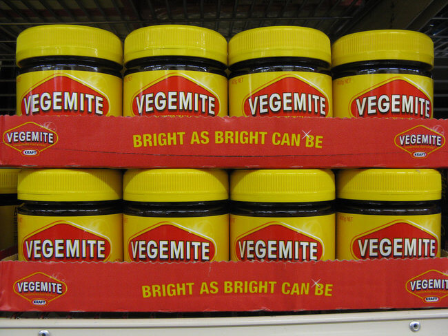 pots of vegemite in Australia
