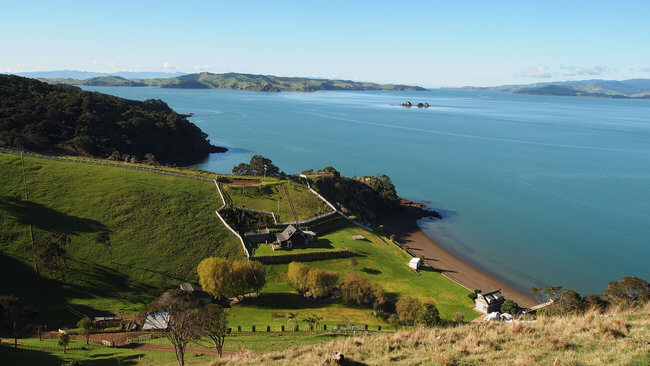 view of Waiheke Island Auckland New Zealand