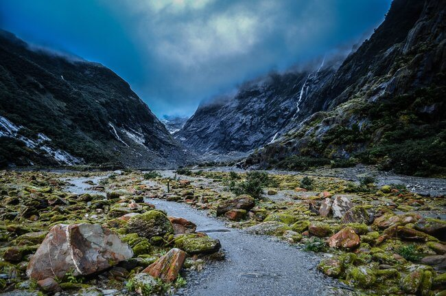 clouds franz josef glacier new zealand