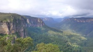 green view blue mountains australia