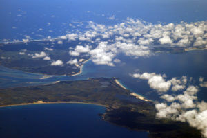aerial view Doubtless Bay North Island New Zealand