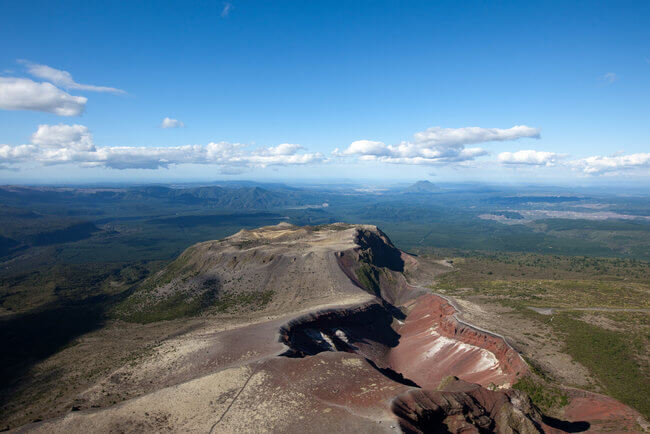 view from top mount tarawera new zealand