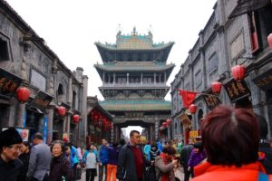 ancient ming qing street Pingyao China
