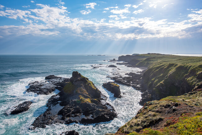 coastal view end of phillip island australia