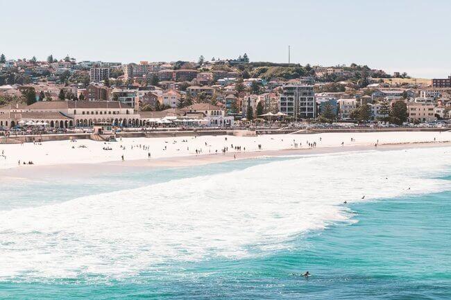 daytime view across bondi beach Australia