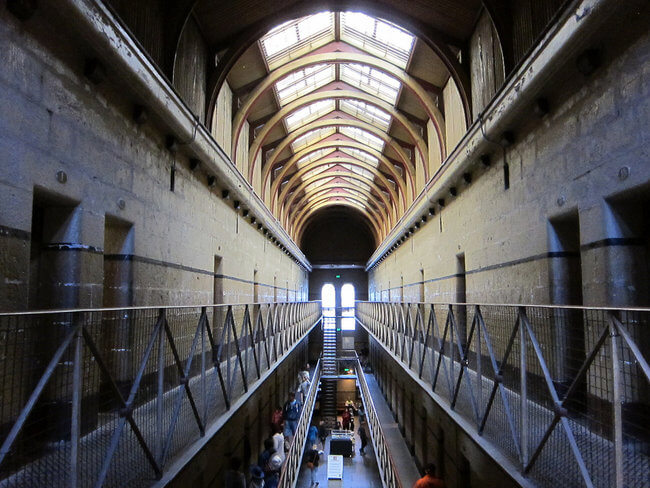 view inside old melbourne gaol Australia