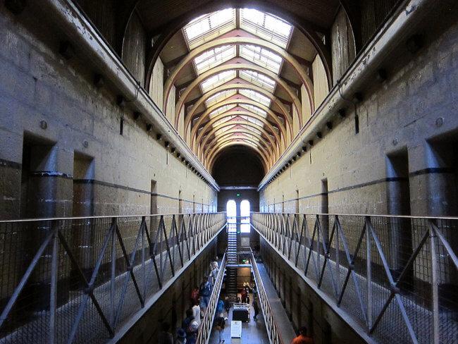 view inside old melbourne gaol Australia