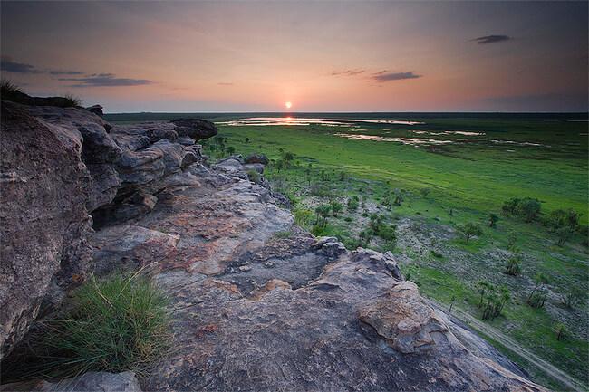 ubirr rock at sunset Kakadu national park australia