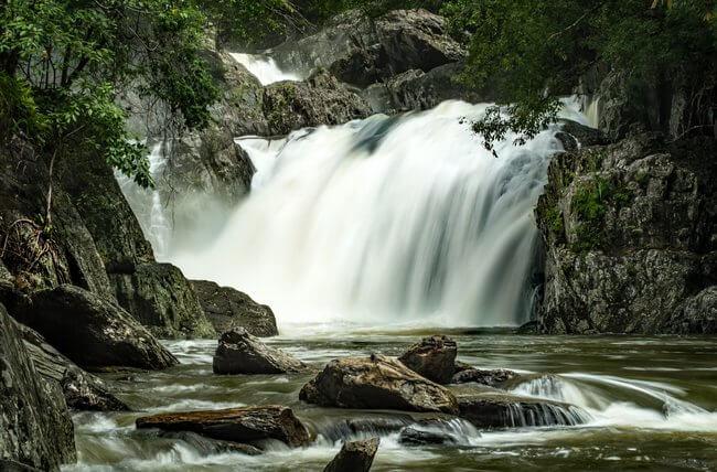crystal cascades waterfall cairns australia