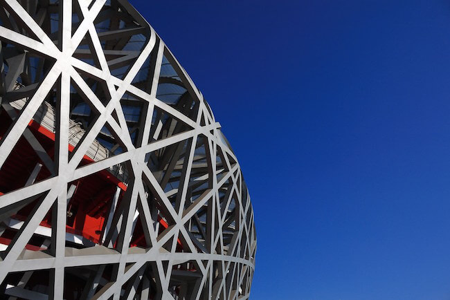 beijing birds nest national stadium