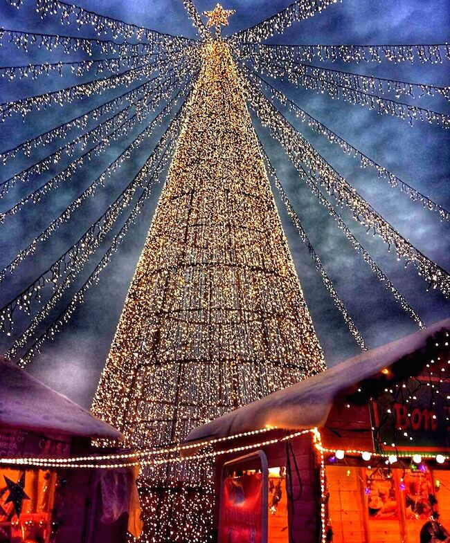 Christmas market in shanghai china