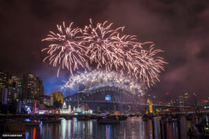 New years eve fireworks in Sydney Australia