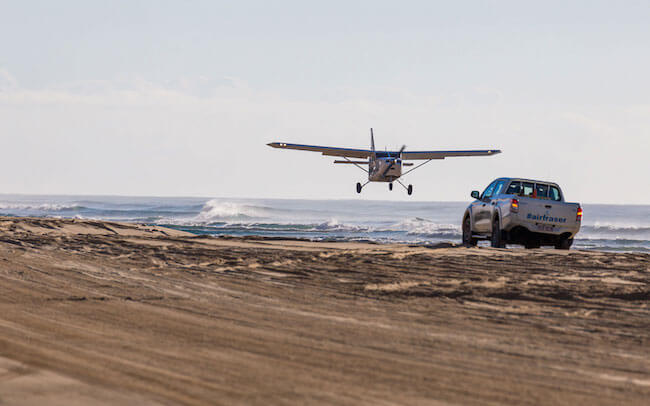 Air fraser Island australia