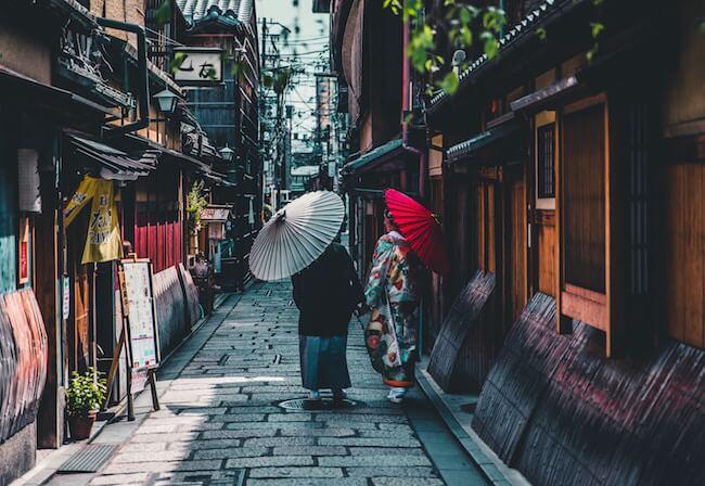 women walking in japan street