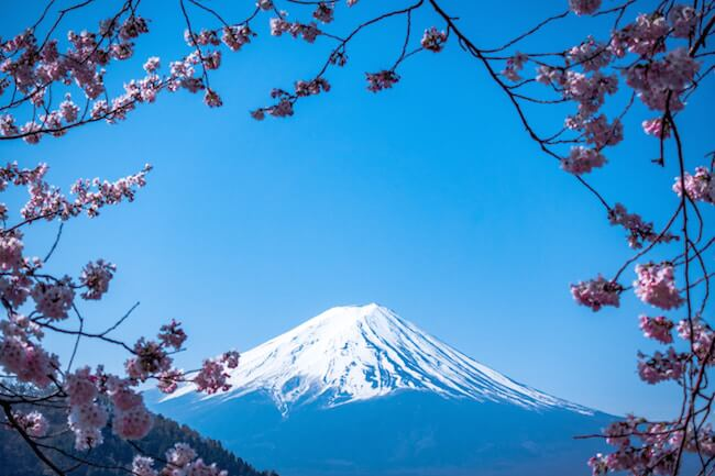 view of mount fuji japan