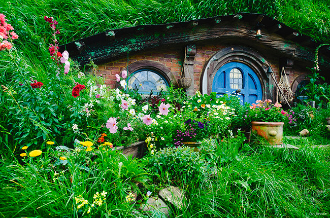See where Bilbo Baggins lived, in the mythical town of Hobbiton