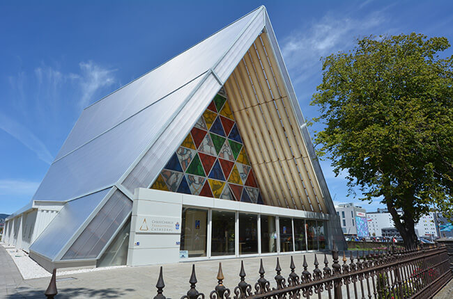 The Transitional Cathedral in Christchurch New Zealand