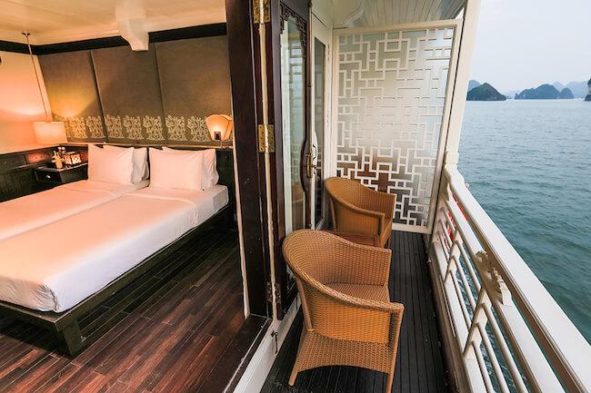 halong bay cruise balcony room