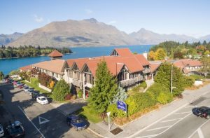 View from the Copthorne Lakefront Hotel in Queenstown