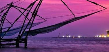 Fishing nets in Cochin, India
