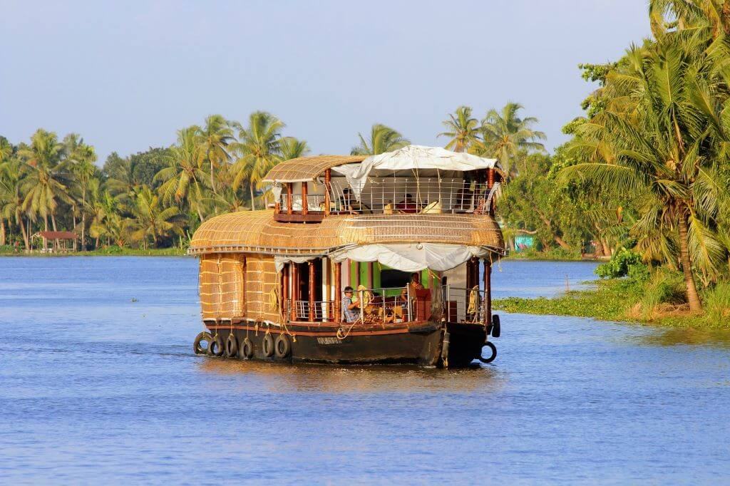 Houseboat sailing in Kerala backwaters