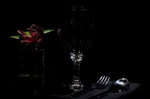 dining in the dark table setting