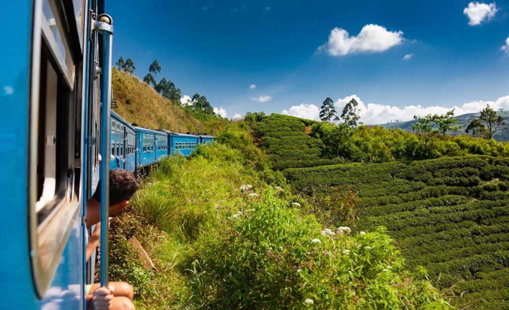 Train from Kandy to Nuwara Eliya