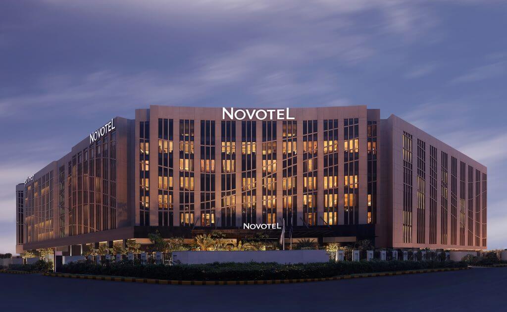 Novotel hotel Delhi exterior panorama India