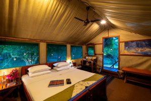 Interior tent view Safari camp experience in Yala Sri Lanka