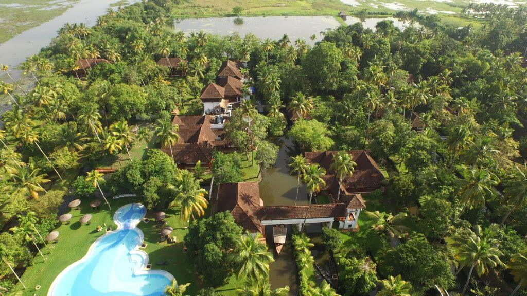 India_Kumarakom_Coconut Lagoon_overview