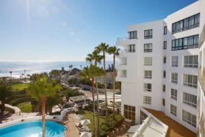 sunny view exterior President Hotel and Atlantic Ocean