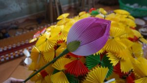 paper flower making in Hue Vietnam