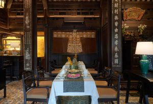 Royal dining table in Hue Vietnam