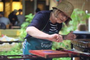 woman doing Truc Chi workshop in Hue Vietnam