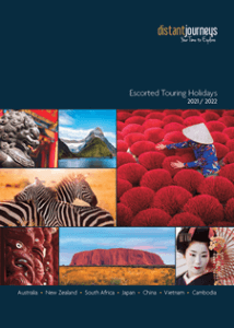 distant journeys touring holidays 2021-2022 brochure cover